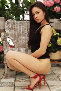 Model Astrid Herrara in The Garden