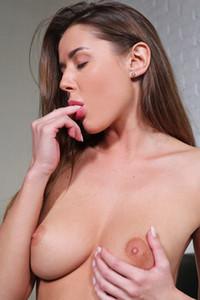 Model Sybil A in Stockings